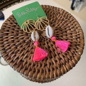 Lilly Pulitzer shell tassel earrings